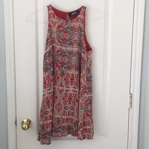 Lulu's High Neck Mosaic Dress